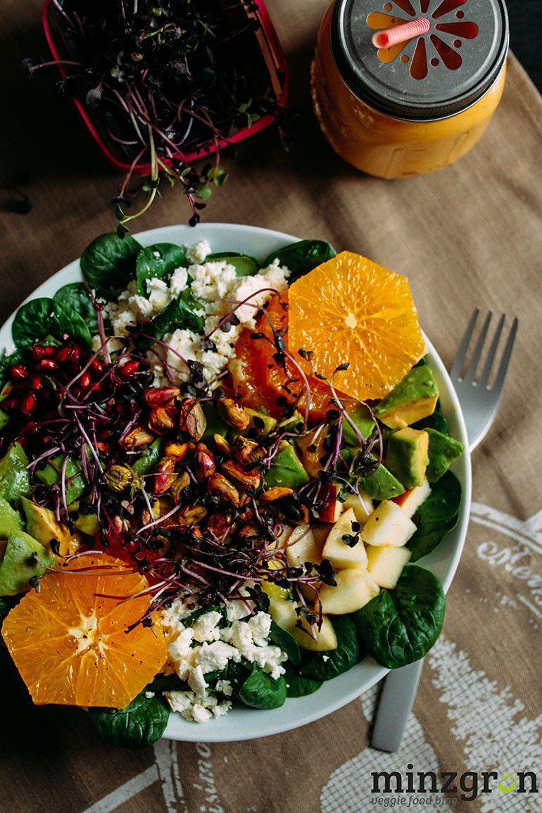 Kickstarter: Wintersalat mit Granatapfel und Orange #thanksgivingfood