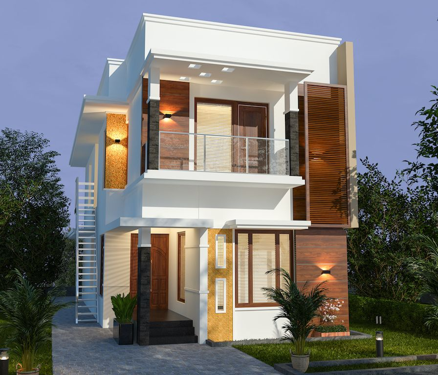 30 Lakhs Estimated Cost 5 Bedroom Contemporary Style Front