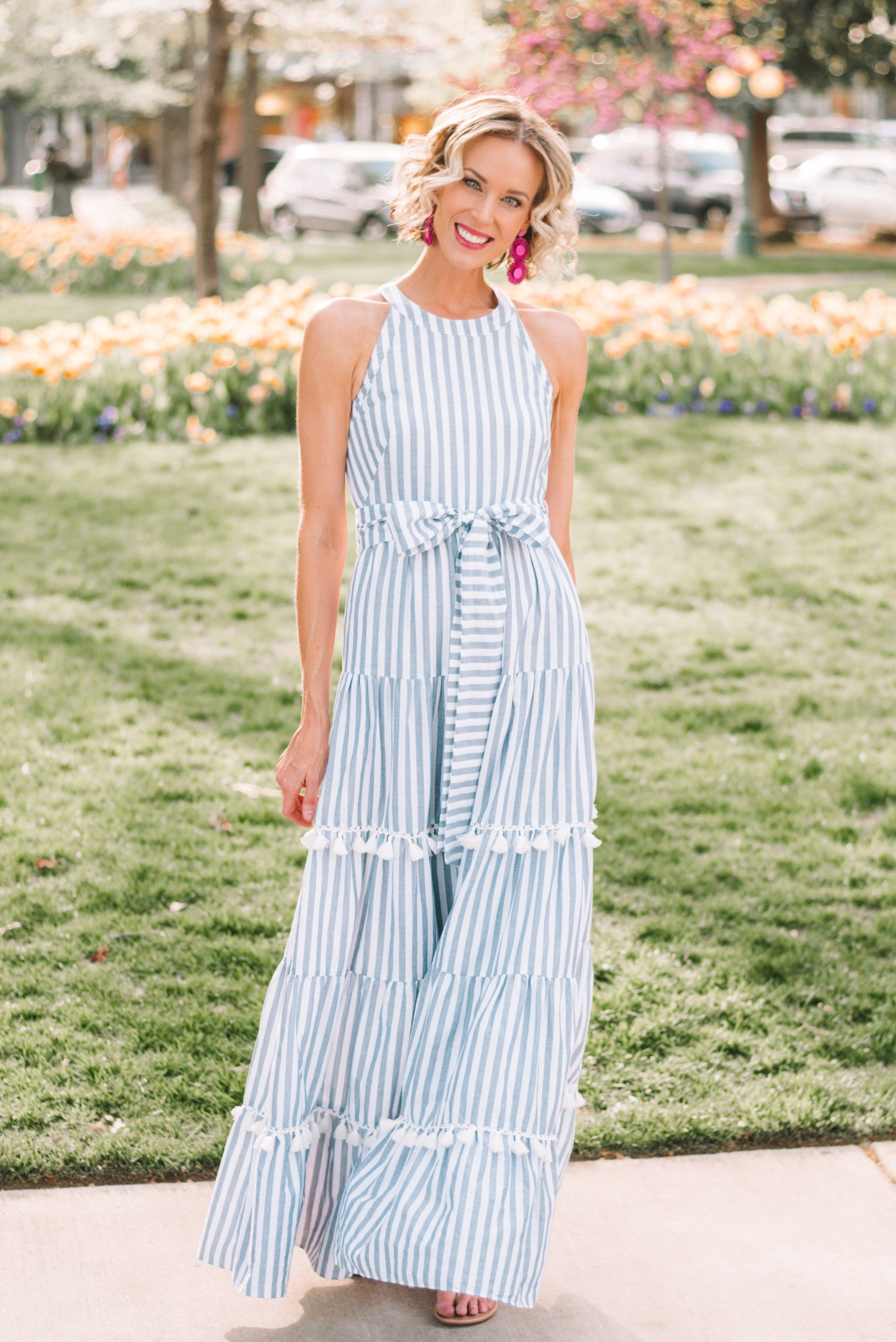 The Maxi Dress Of My Dreams Straight A Style Maxi Dress Striped Dress Summer Long Flowy Maxi Dresses [ 3235 x 2160 Pixel ]