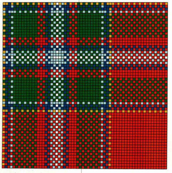 Crochet Pattern PDF DRUMMOND Tartan Afghan / by joiedevivreonline ...