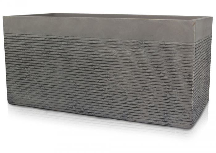 L1M Extra Large Light Grey Fibrecotta Brick Design Trough 640 x 480