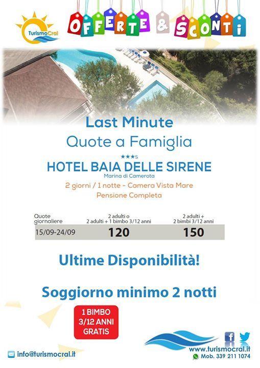 LAST MINUTE... CAMPANIA QUOTE A FAMIGLIA HOTEL BAIA DELLE SIRENES ...
