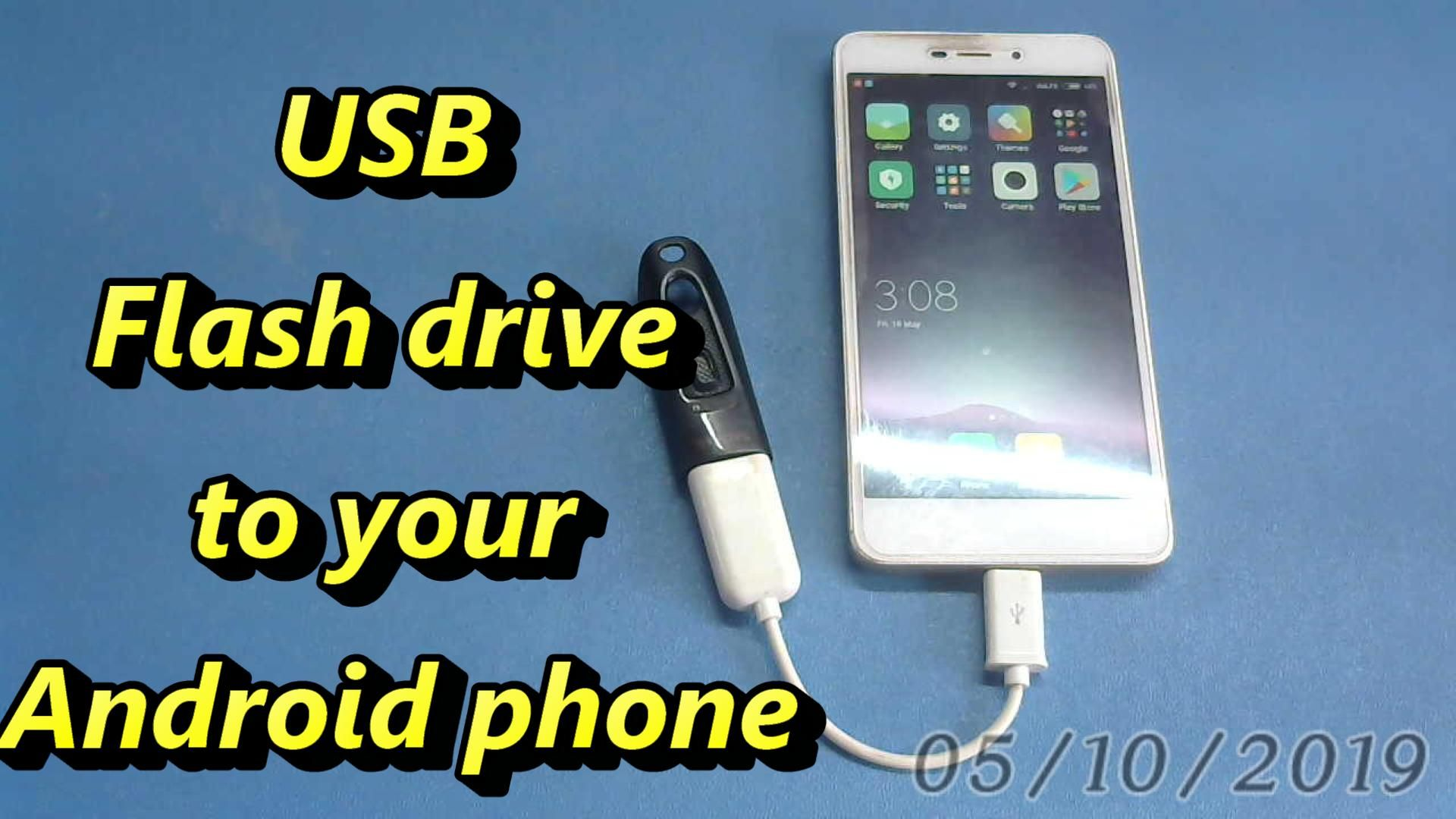 How to connect a USB flash drive to your Android phone