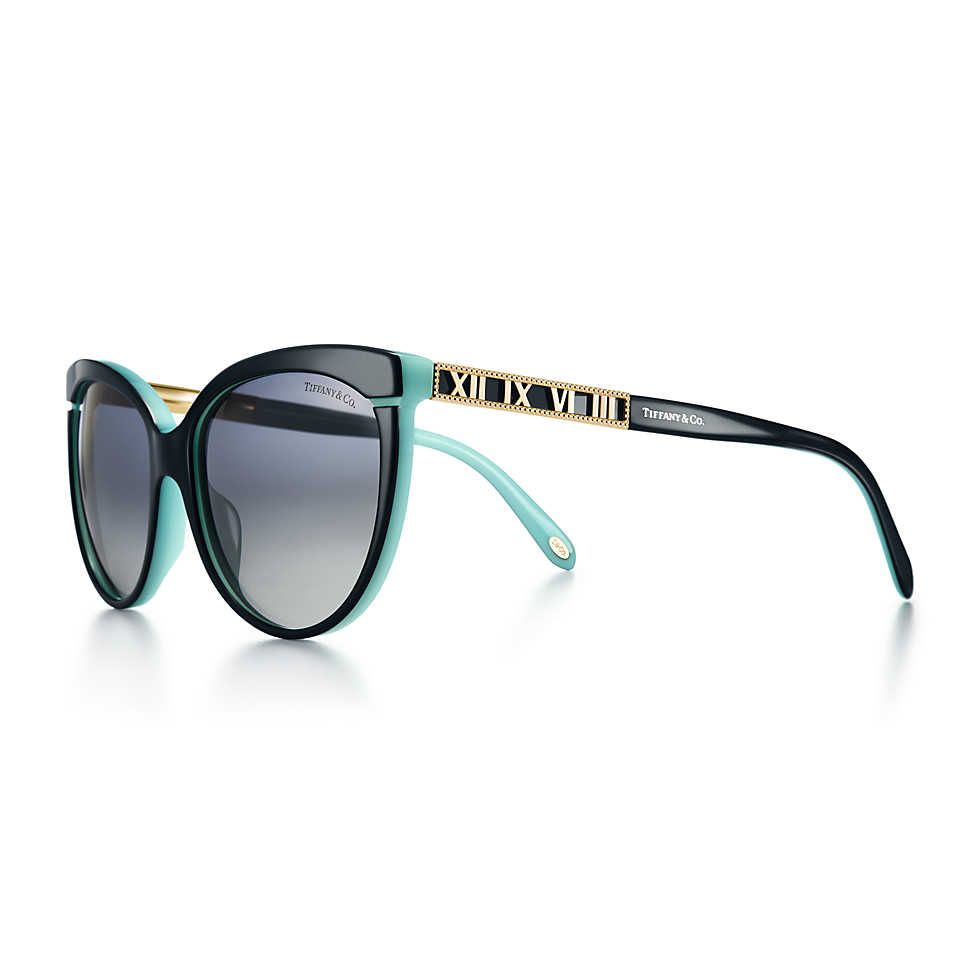ce4bd180a2b Atlas® butterfly sunglasses in pale gold-colored metal and acetate ...