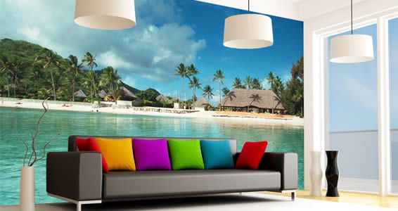 Paradise quality wall murals Wall murals Walls and Office wall decals