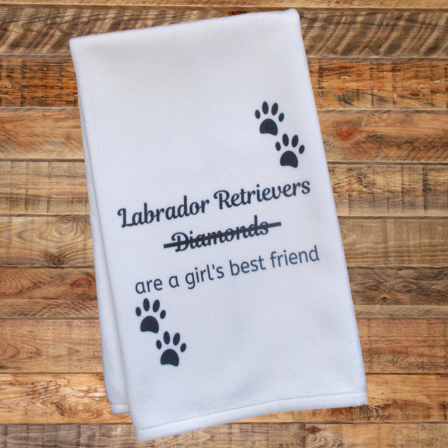 Be The Person Your Pug Thinks You Are Tea Towel Dish Cloth Dog Puppy Funny