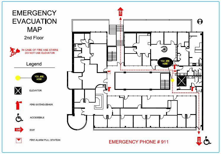 Fire Evacuation Plan Template Beautiful Precision Floor Plan Emergency Evacuation Maps In 2020 Office Floor Plan Emergency Response Plan Evacuation Plan