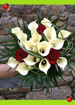 Rouge Blanc Bouquet Pinterest Bouquet Rouge Et Mariee