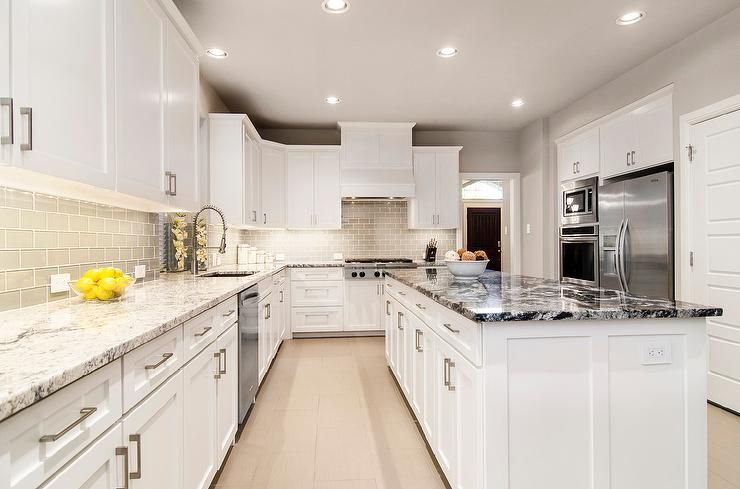 Contemporary White Shaker Kitchen contemporary kitchen boasts white shaker cabinets paired with
