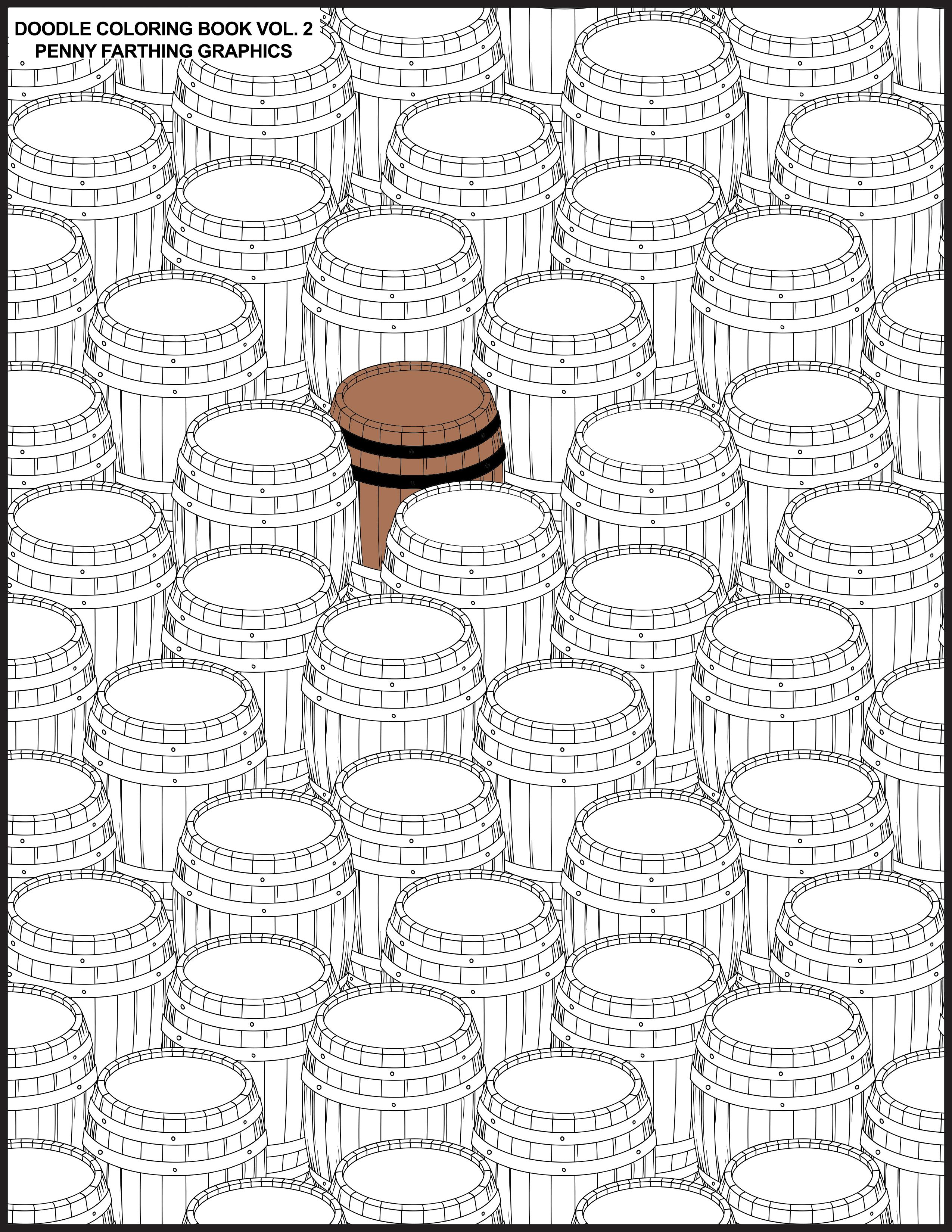 Barrels from ucdoodle coloring book vol ud coloring books