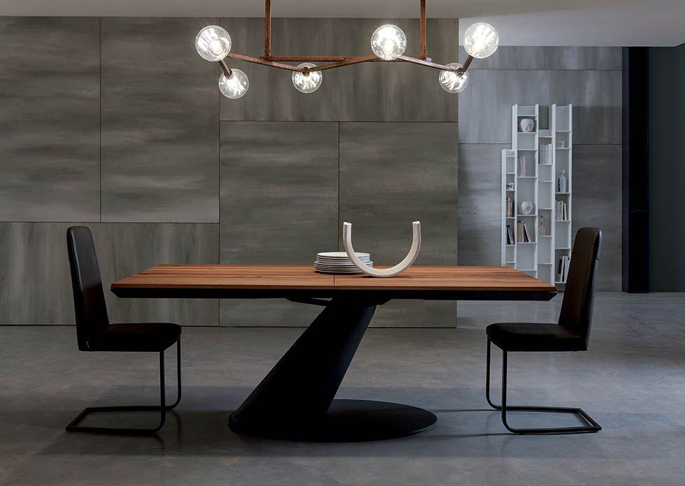 THOR design: Giulio Manzoni METAL FRAME EXTENDABLE DINING TABLE ...
