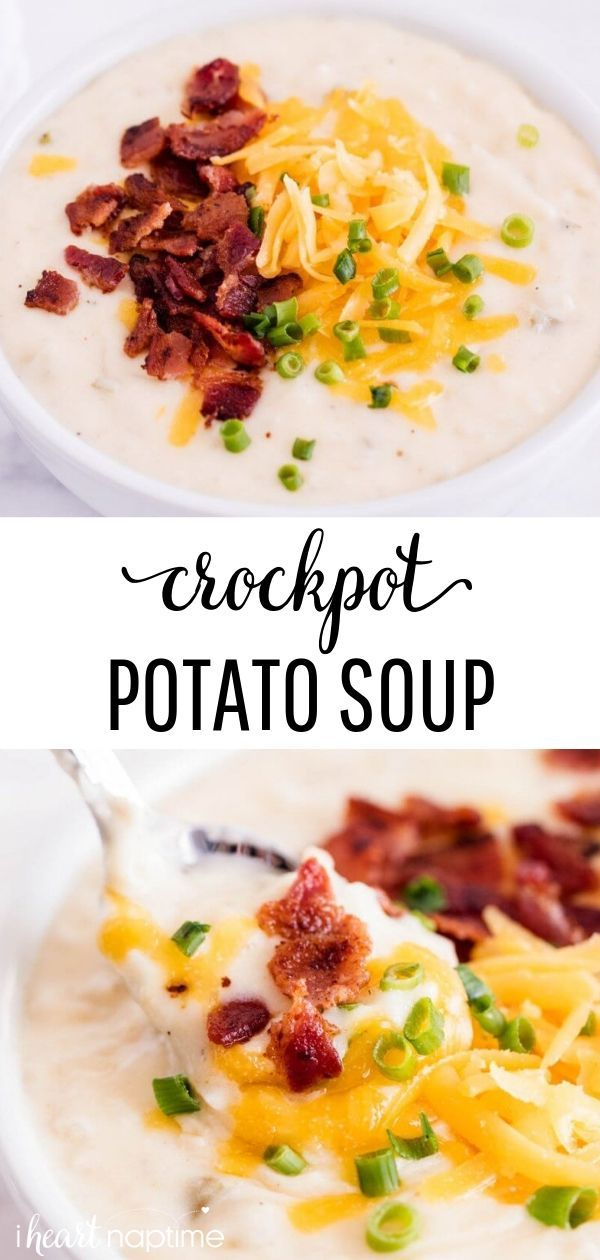 Crockpot Potato Soup #potatosoup