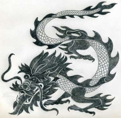 Simple And Perfect Dragon Drawing     Pinterest