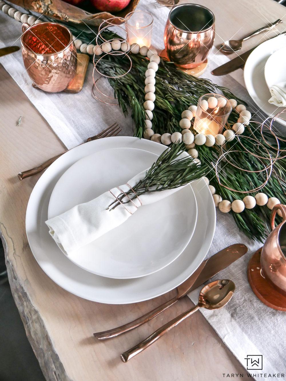Organic Modern Christmas Table - Taryn Whiteaker