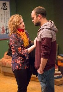Mary Williamson (Kate) and Keith Neagle (Martin) in Haven Theatre Company's production of SEMINAR at Theater Wit.