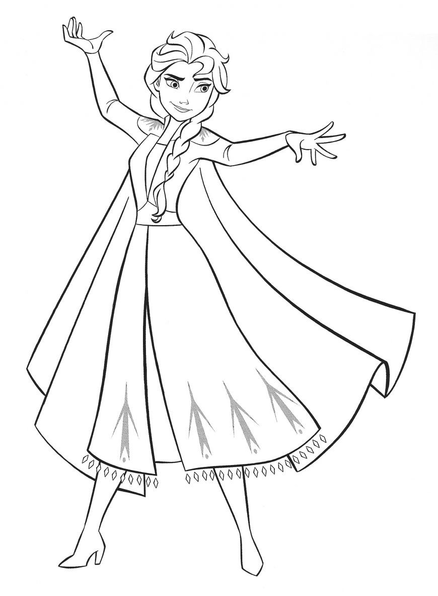 New Frozen 2 Coloring Pages With Elsa In 2020 Frozen Coloring