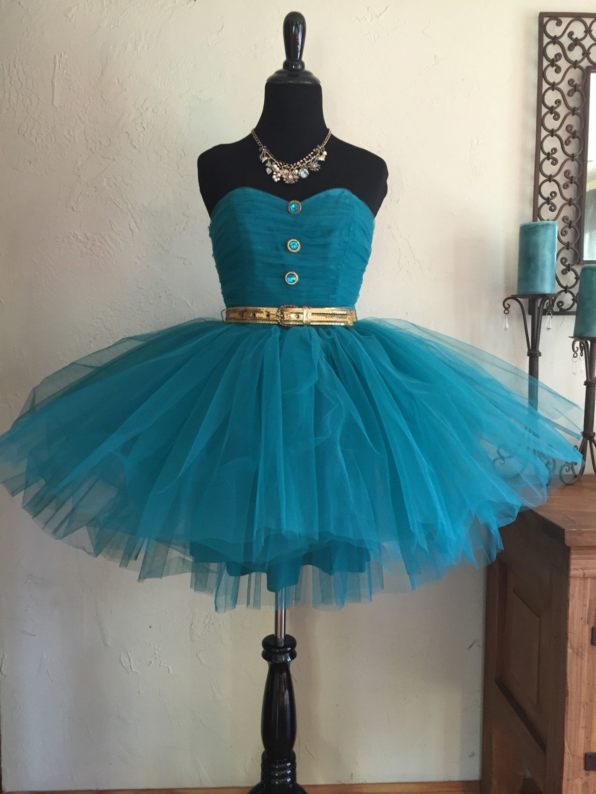 2 Day Sale Womens Sz 4 Betsey Johnson Tulle Tutu Party Dress Teal ...