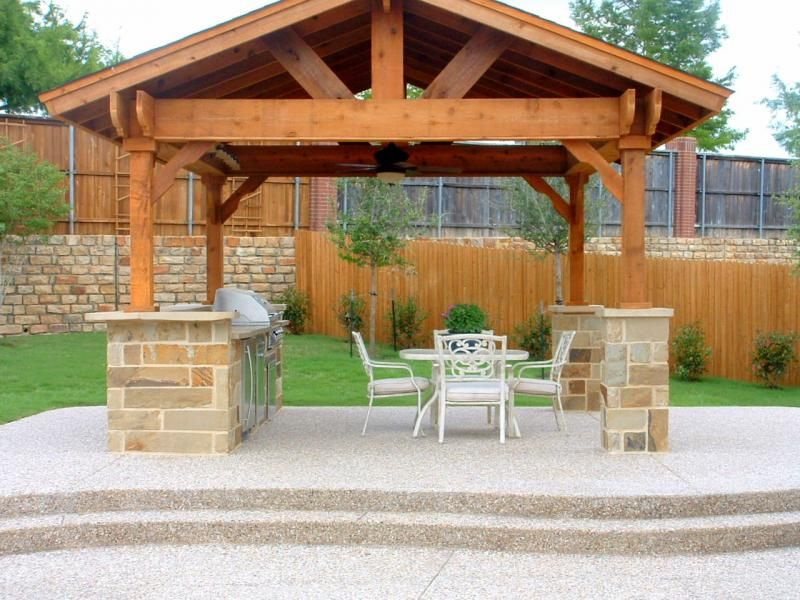 Marvelous Cincinnati Outdoor Living Pergola Stamped Concrete Patio