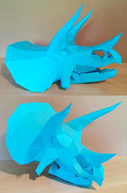 Triceratops Skull Papercraft by Gedelgo.deviantart.com on @DeviantArt