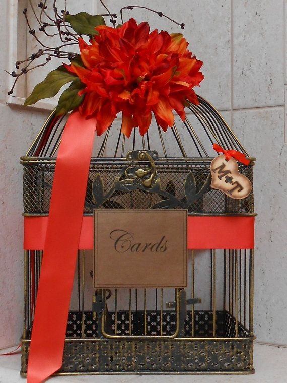 Rustic Fall Wedding Birdcage Card Box Halloween Decorations