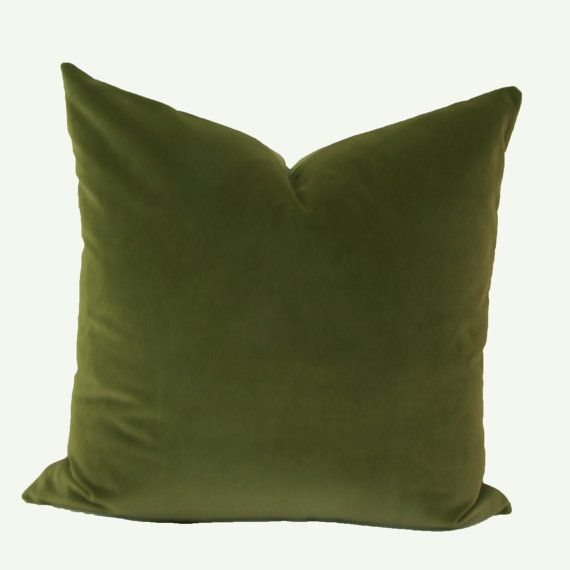 22X22 Pillow Insert New Olive Green Velvet Throw Pillow Cover 18X18 Green Velvet Pillow Design Ideas