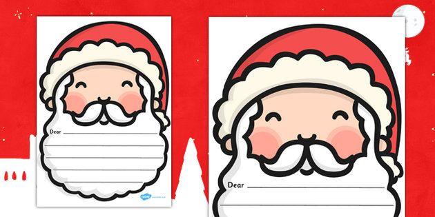 Letter To Santa Writing Template christmas/school Pinterest