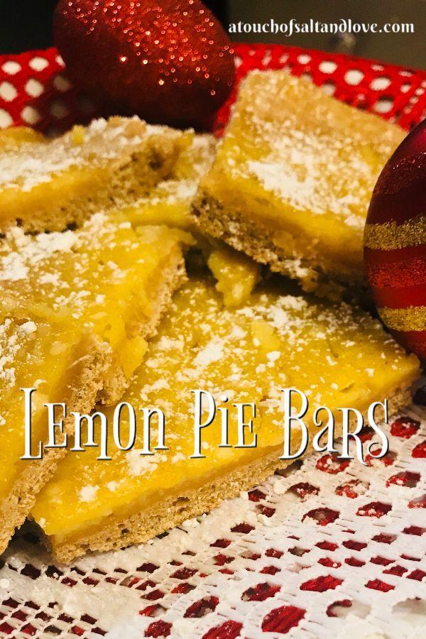 Lemon Pie Bars - A Touch of Salt and Love This lemon pie bar recipe is so delicious!  These lemon d