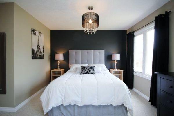 Dark Grey Accent Wall Guest Bedroom Remodel Small Bedroom