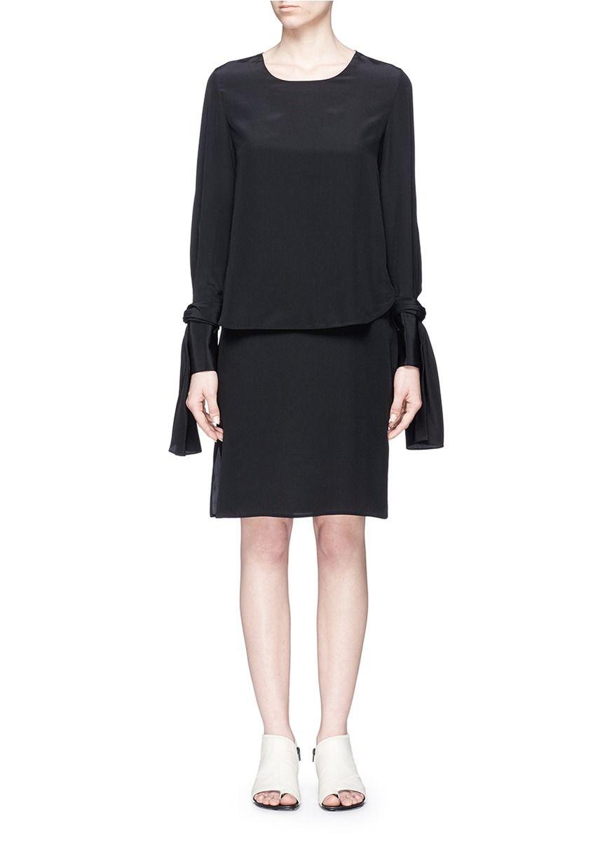 ac9c6c9167a 3.1 PHILLIP LIM Double Layer Sleeve Tie Silk Dress.  3.1philliplim  cloth   dress