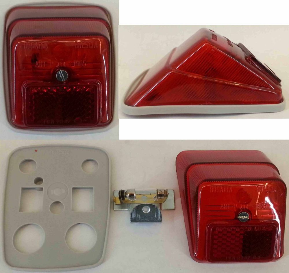 FANALE POSTERIORE VESPA 3 MARCE 50 90 N R L a faro tondo 6v-5w lamp