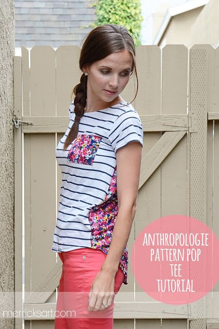 anthro tee refashion & tutorial- if you can't buy it, diy it!