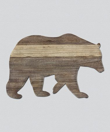 Bear Wall Art wood bear cutout wall art | bears, woods and walls