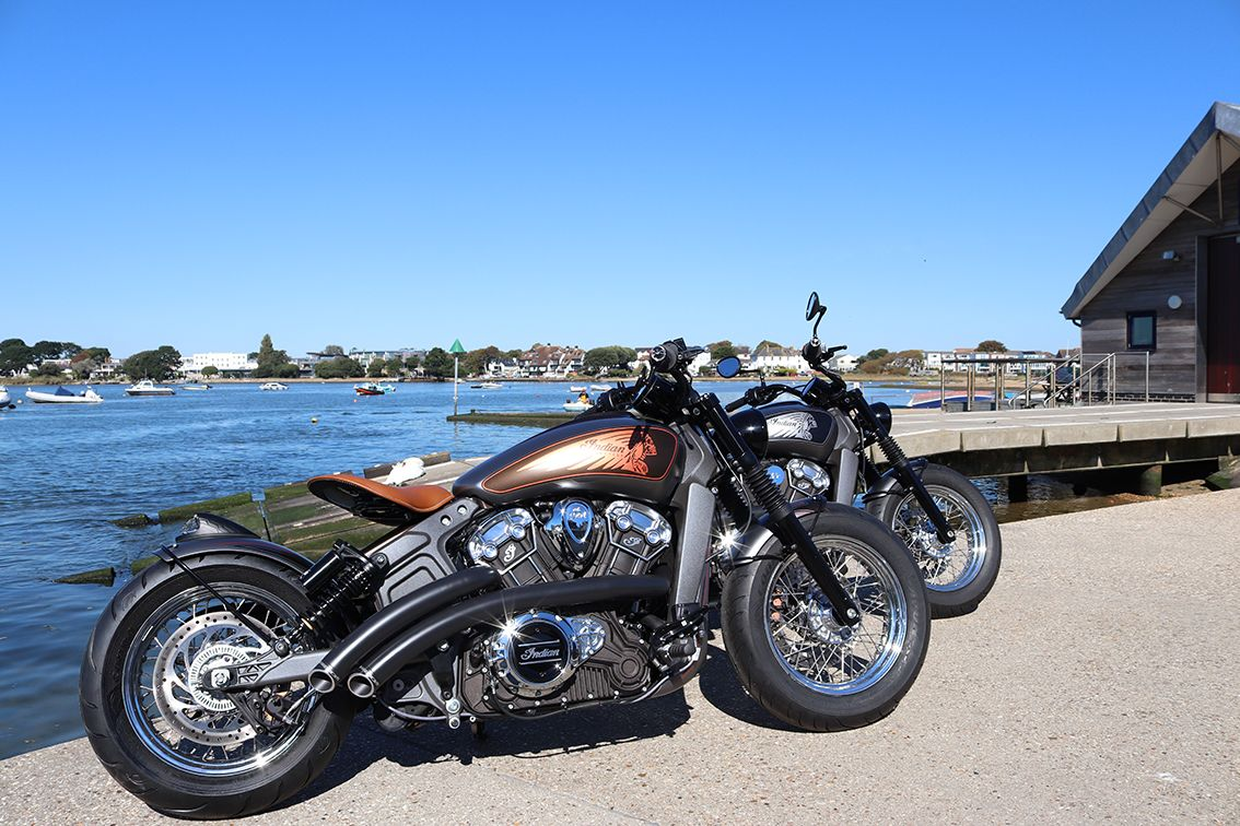 Custom Scout Bobbers built by Moore Speed Racing in Poole ...
