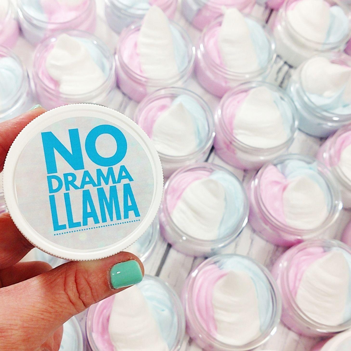 No Drama Llama Whipped Body Butter Lotion Vanilla Birthday Cake Scent Mama Handmade