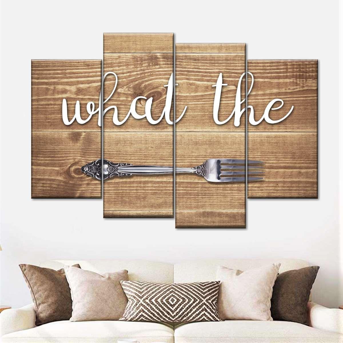 What The Fork Multi Panel Canvas Wall Art In 2020 Kitchen Decor Wall Art Wood Wall Art Diy Modern Wall Decor Art