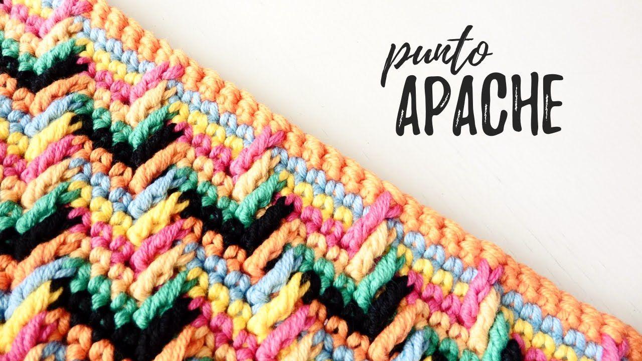 Punto MARAVILLOSO a crochet / Punto APACHE | AHUYAMA CROCHET ...