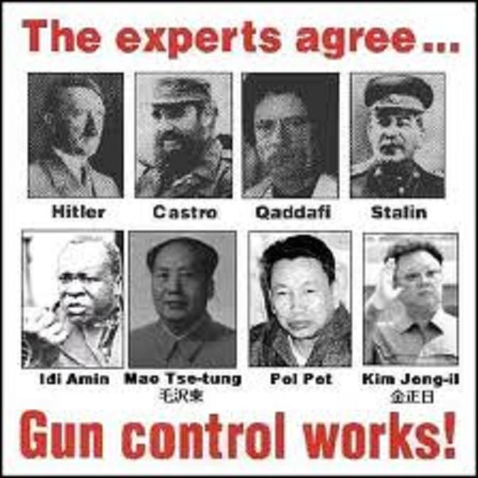 the best pro gun argument i have ever think before you armed civilians would not have stopped any of these guys apart from an assassination wonderful pro gun control article behind this erroneous meme
