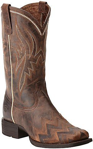 6884daf74cc Ariat Women's On Point Sassy Brown Chevron Square Toe Western Boots ...