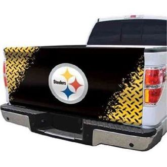 Pittsburgh Steelers Fabric Tailgate Cover. Order from. >>>   www.bjsportstore.com