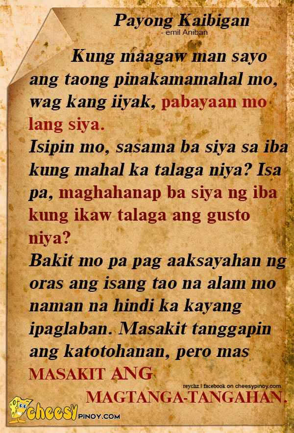 Cheesypinoy We Have A Collection Of Tagalog Filipino Pinoy Amazing Sad Quotes About Friendship That Make You Cry Tagalog