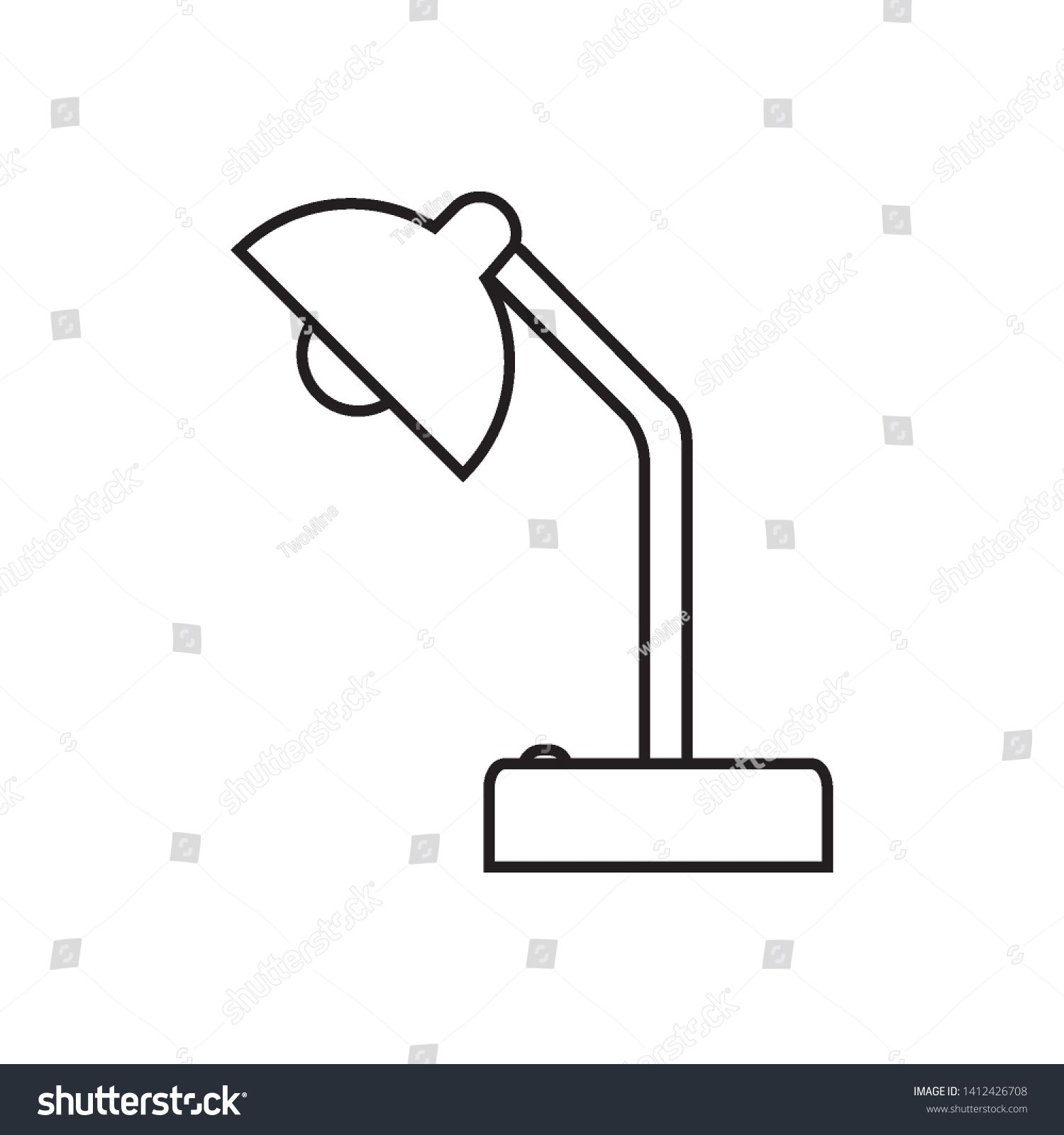 Table Lamp Icon Vector Design Template Sponsored Spon Icon Lamp Table Template In 2020 Print Designs Inspiration Photo Editing Stock Photos