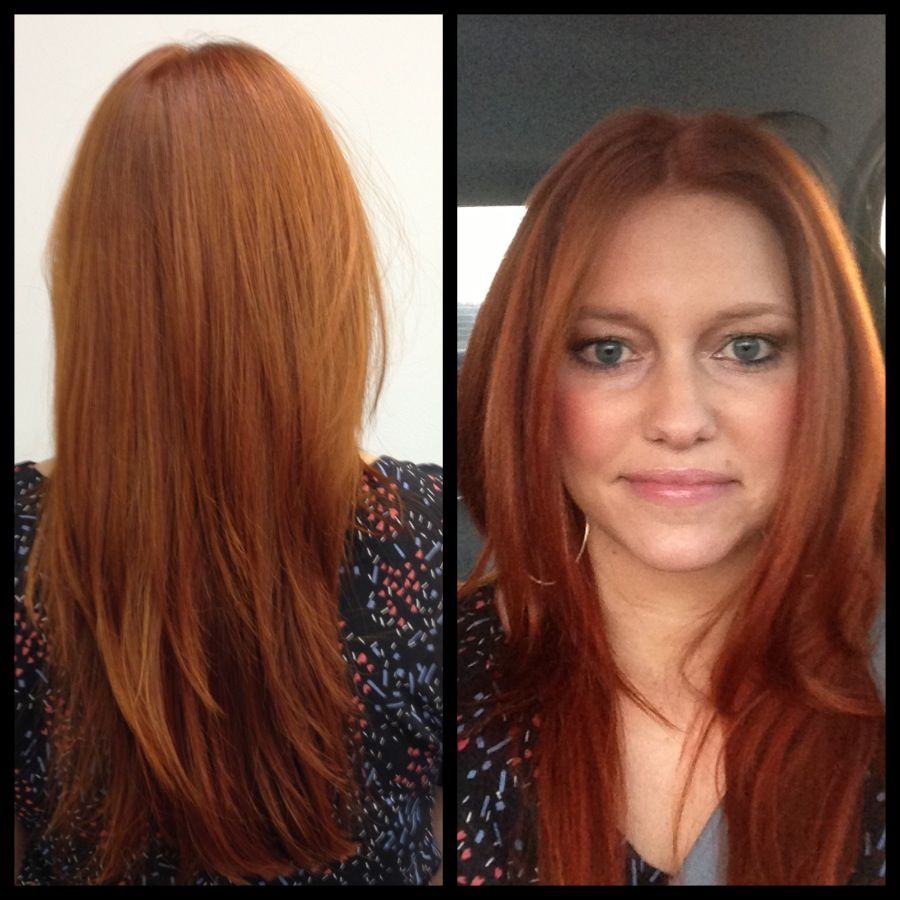 Going From Blonde To Red Hair Growing Out Hair Artistic Hair Hair Affair