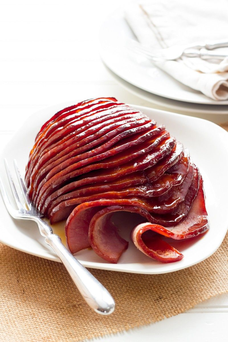 Slow Cooker Honey-Glazed Ham: think cooking a delicious, moist, and tender ham has to be a difficult task? Not so with this slow cooker ham recipe.