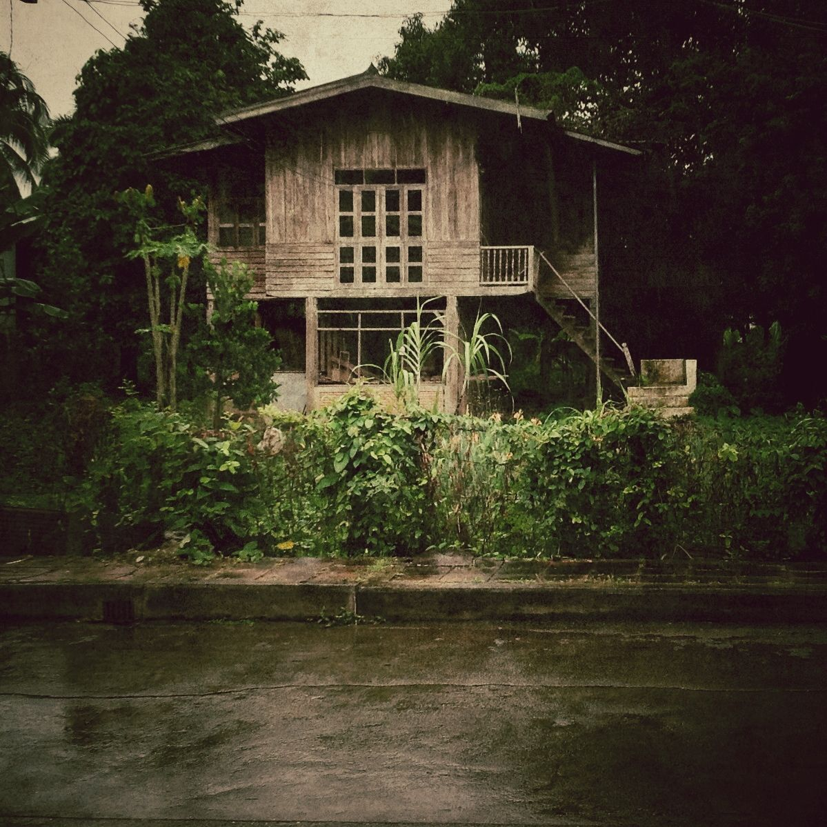 Vintage House, Thai old style house is located in Nan, Thailand. more than 40 years old