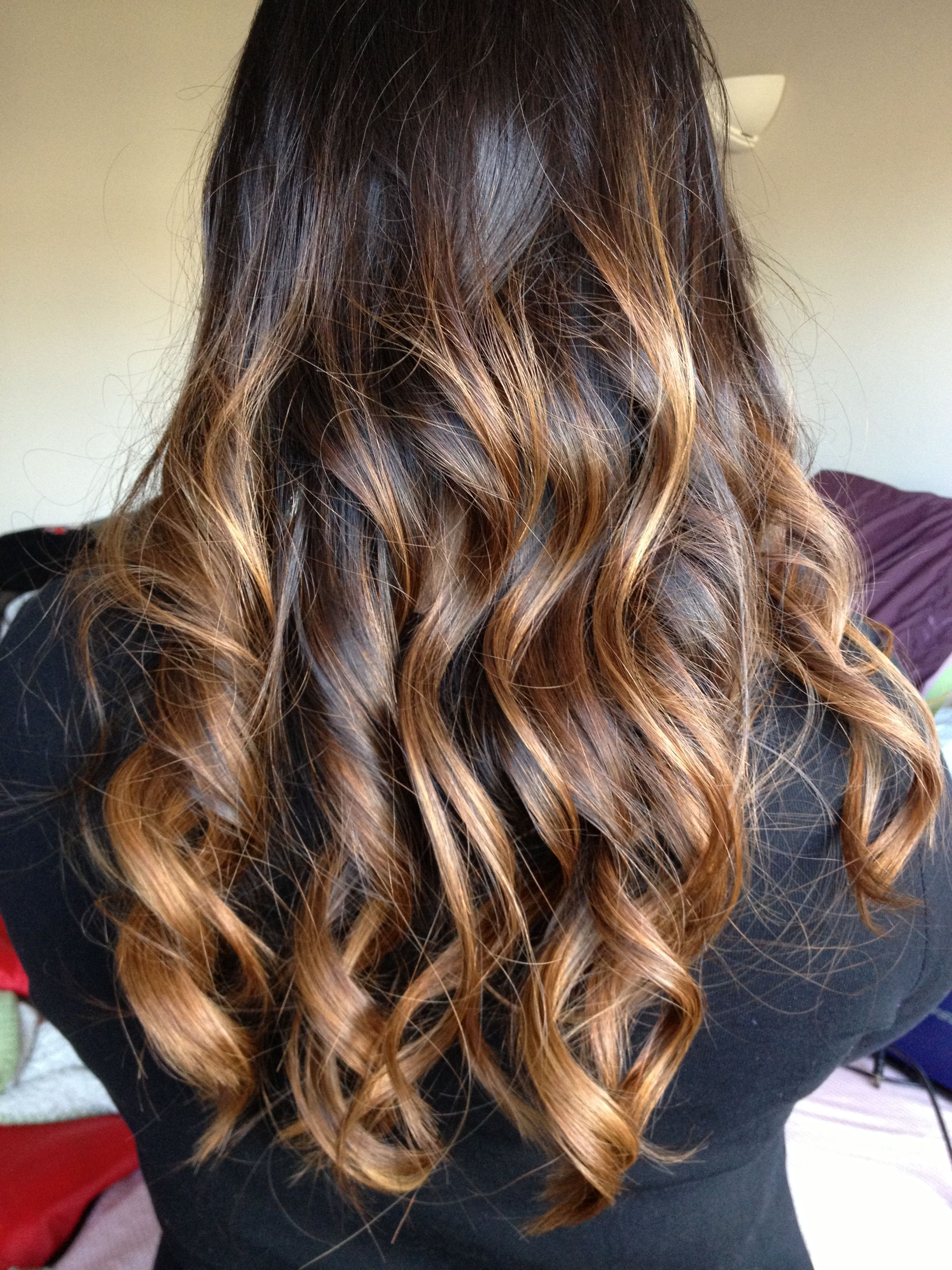 Finally got my black to caramel ombre all thanks to an amazing