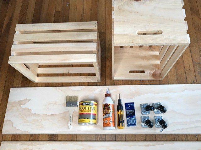 Easy Crate Diy Bench On Wheels Diy Storage Bench Crate Bench Crate Storage Bench
