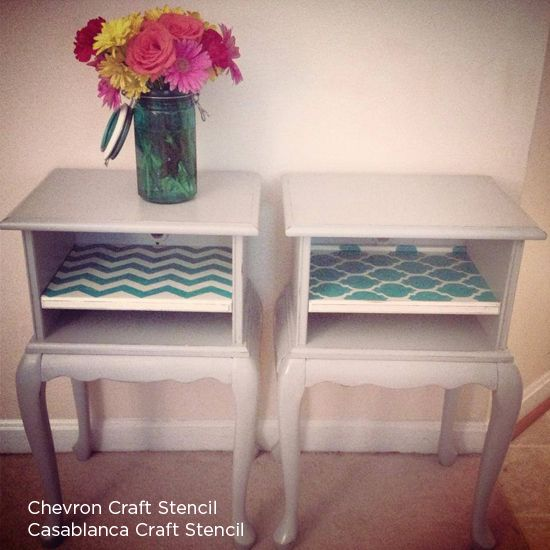 chevron painted furniture. Turquoise To Teal Painted And Stenciled Blue Furniture, Furniture Chevron