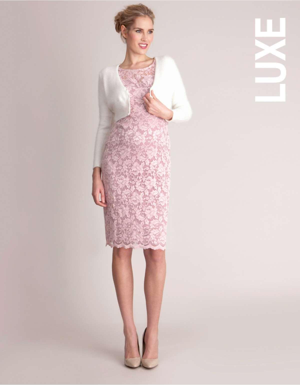4d23d40204 Blush Lace Maternity Cocktail Dress Cardigan