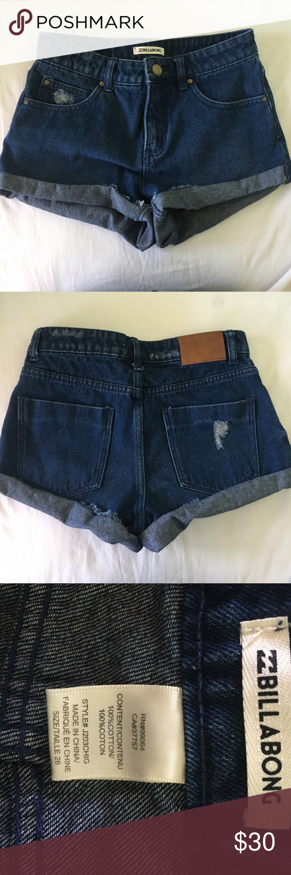 Billabong jean shorts Billabong rolled up jean shorts Billabong Shorts Jean Shorts