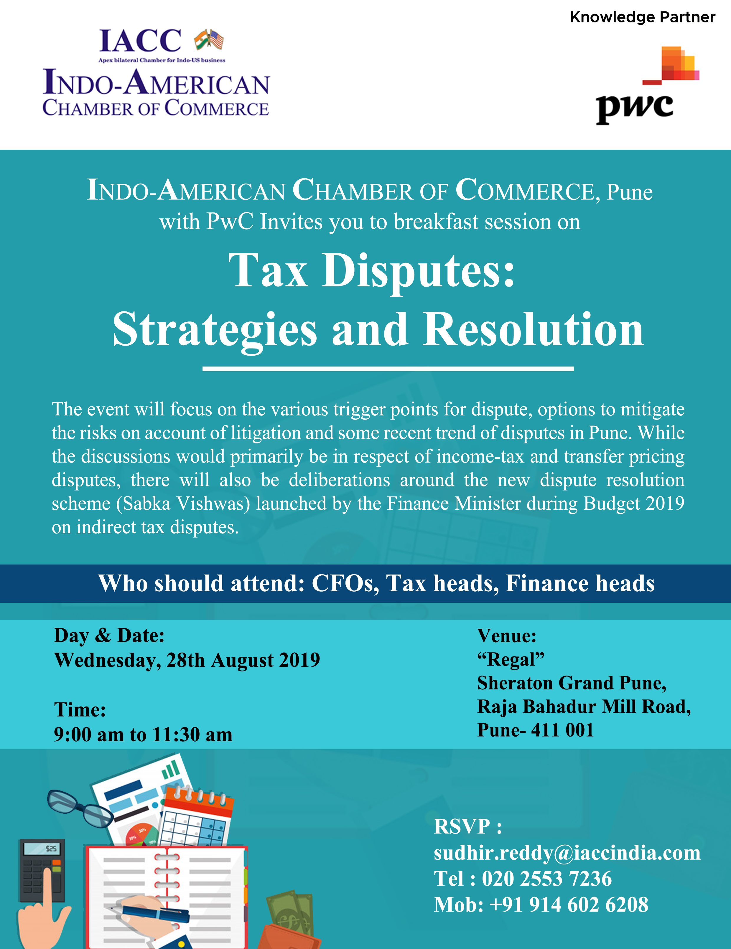 Iacc Pune With Pwc Is Organising Taxdisputes Strategies